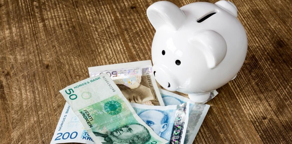 Illustrasjonsbilde Sparegris og penger