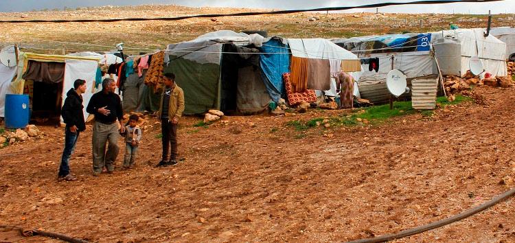 Fra en flyktningleir i Libanon.
