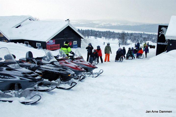 Vintercamp snøscootere